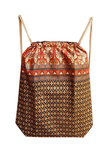 Ariyas Thaishop - Bolso mochila  para mujer marrón Braun rot Braun rot