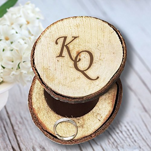 Exquisite Design & Authentic Size Wedding Wooden Ring Box Customized Initials Fashion Jewelry Accessories Box Wedding - Uk Tiffany Box Jewellery