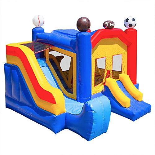 Inflatable HQ Commercial Grade Bounce House Sports Castle 100% PVC with Blower and Slide