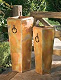 H Potter Tall Planter Outdoor Indoor Rustic Patio Deck Garden Flower Planters - Set of Two