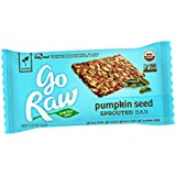 Go Raw Organic Superfood Sprouted Bar, Pumpkin Seed (case of 20 large bars)
