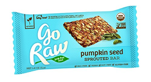 Go Raw Organic Superfood Sprouted Bar, Pumpkin Seed (case of 20 large (Large Bar)