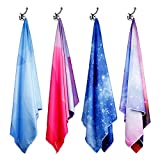 """SYOURSELF Microfiber Travel Beach Bath Towel - L: 60"""" x 30"""" or XL: 70"""" x 35""""- Lightweight Absorbent Fast Dry Oversized Towels Blanket Mat - Perfect for Sports Bath Swim Camping Yoga + Travel Bag"""