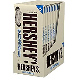 HERSHEY'S Extra Large Cookies 'n' Creme, (4-Ounce Bar, Pack of 12)