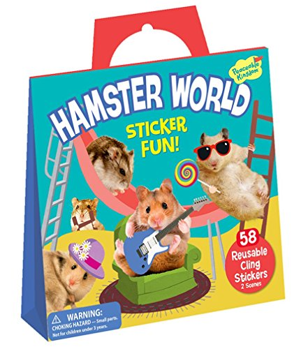 Peaceable Kingdom Sticker Fun! Hamster World Reusable Sticker - Felt Dog Stickers