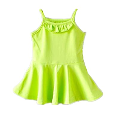 865fdba75a Amazon.com  Baby Girls  Summer solid color Cool Floral Slip Dress ...