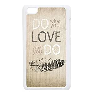 Customized Protective Hard Plastic Case for Ipod Touch 4 - love what you do personalized case at CHXTT-C