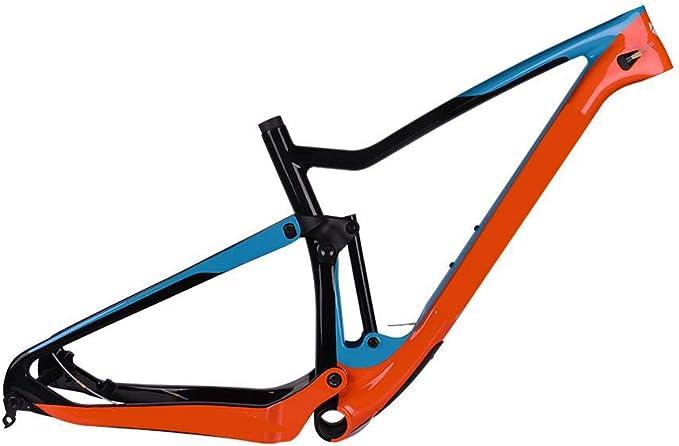 Wenhu SUSPENSIÓN Completa MTB Cuadro de Carbono 29Er MTB Cuadro de suspensión de Carbono T700 Cuadro de Bicicleta de montaña de Carbono 148 * 12 Cuadro de Bicicleta: Amazon.es: Deportes y aire libre