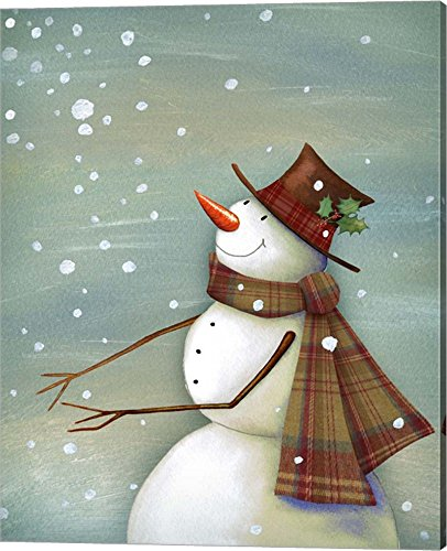 Christmas Magic Snowman by P.S. Art Studios Canvas Art Wall Picture, Gallery Wrap, 16 x 20 inches