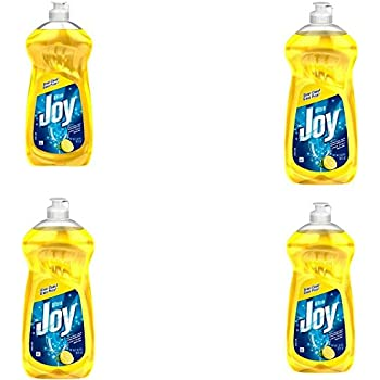 Joy Ultra Concentrated Dishwashing Dish Liquid, Lemon, 30 fl oz (Pack of 4)