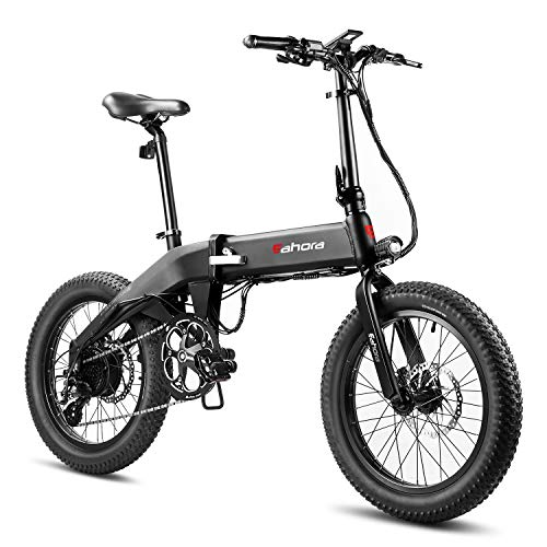 Eahora X6 Folding Electric Bicycle 48V 13Ah Electric Bike 20 Inch Snow Electric Bike Removable Lithium-ion Battery 350W Urban Commuter Ebike for Adults E-PAS Recharge System 8 Speed