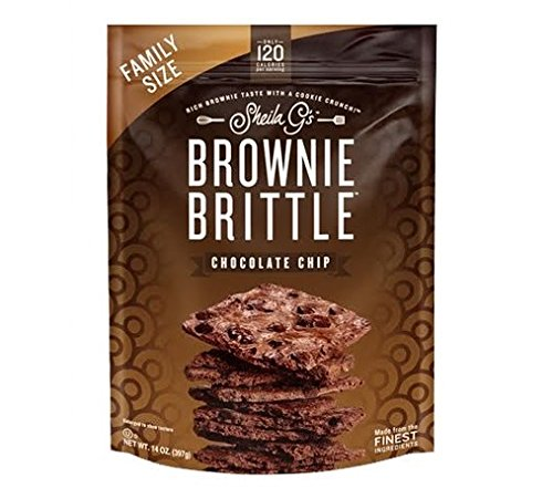 Brownie Brittle, Chocolate Chip, 14 Oz Bag, The Unbelievably Rich and Delicious Chocolate Brownie Snack with A Cookie Crunch (Packaging May Vary)
