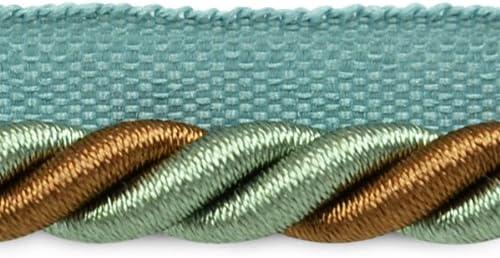 Expo International 20-Yard Leona Twisted Lip Cord Trim Embellishment Beige//Gold 3//8-Inch