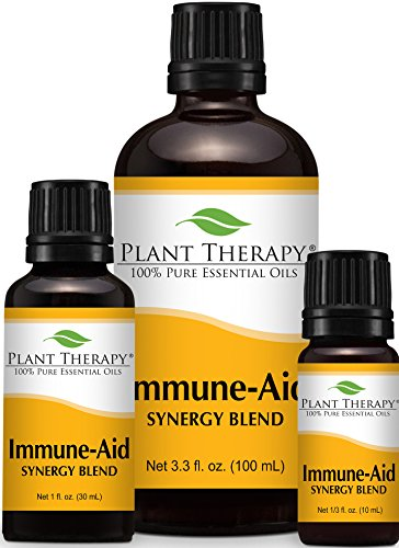 Immune Aid Synergy Essential Oil Blend. 100% Pure, Undiluted, Therapeutic Grade. (Blend of: Frankincense, Tea Tree, Rosemary, Lemon, Eucalyptus and Orange)