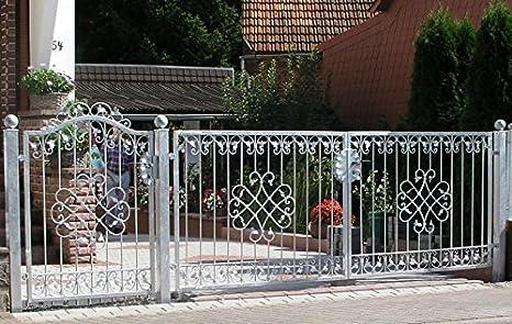Puerta de jardín Monaco GFT-500/100, de metal y hierro forjado,galvanizada