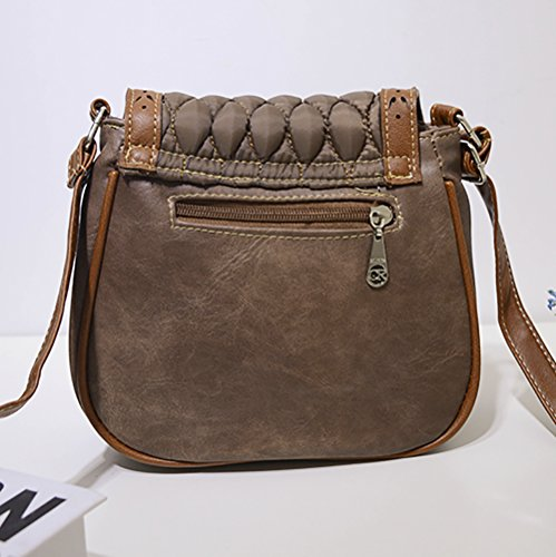 Flap Shoulder Tassels Bag bag Women's Crossbody Medium QZUnique Khaki PU 1 Saddle Hobo 8qTSxHxw