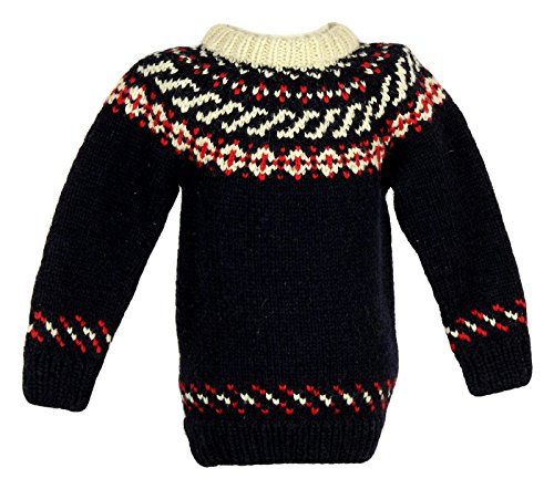 Crewcuts Kids Canadian Sweater Company Hand Knit Wool Sweater Sz M B5259 by Crewcuts