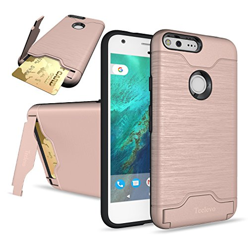 new product d9aef f01b2 Google Pixel Case, Teelevo [Card Slot Holder] Dual Layer - Import It All