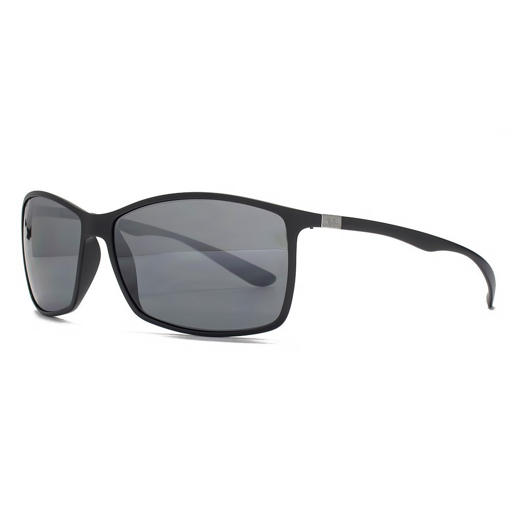 1df8828b17 Ray-Ban Liteforce Tech Rectangular Sunglasses in Matte Black P3 Polarised  RB4179 601 S9A 62  Amazon.co.uk  Clothing