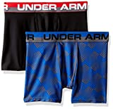 Under Armour Boys' Original Series Boxerjock Novelty 2-Pack, Ultra Blue/Black, Youth Small