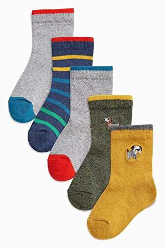 British spot purchasing children's clothes 2018 spring new baby boy stripe small animals in tube socks 5 pairs of socks Group