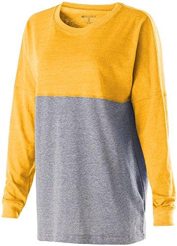 Holloway Sportswear LOW-KEY PULLOVER Women's XL Vintage Light Gold/Vintage Grey (Sportswear Holloway)