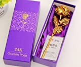 JaipurCrafts 24K Gold Rose with Gift Box and Carry Bag