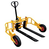 Vestil ALL-T-2-48 All-Terrain Pallet Truck, Yellow, 2000 lb. Capacity, Overall Dimensions 65