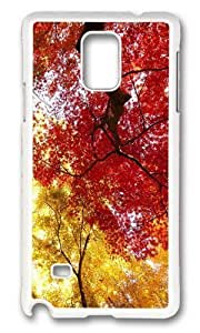 Adorable autumn trees Hard Case Protective Shell Cell Phone Samsung Galaxy Note2 N7100/N7102 - PC White
