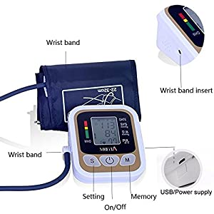 MOCITA Arm Automatic Digital Blood Pressure and Pulse Monitor LCD Heart Beat Home Electric Arm Sphygmomanometer …