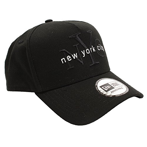(ニューエラ) NEW ERA キャップ スナップバック 9FORTY Aフレーム ダックキャンバス NYC ブラック FREE (サイズ調整可能)