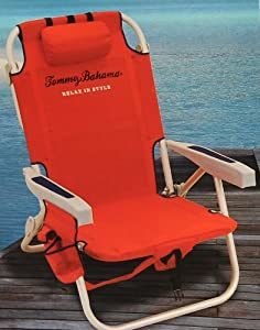 Tommy Bahama Red Backpack Cooler Chair by Tommy Bahama