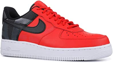 nike air force one red black