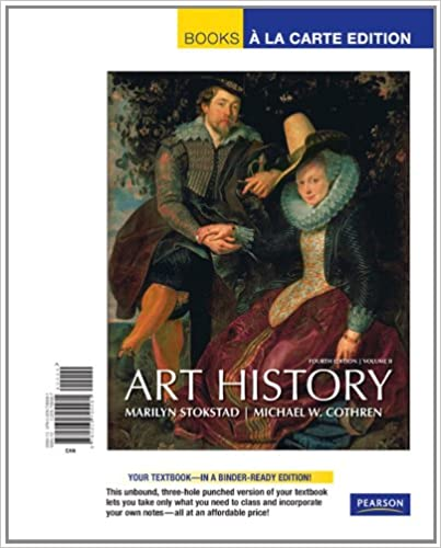 art history volume 2 books a la carte plus myartslab 4th forth edition text only