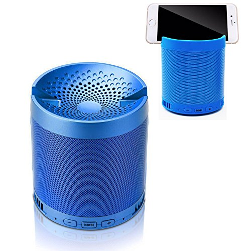 BOOMER VIVI Portable Bluetooth Speaker with Stand, HIFI, 5W Enhanced Bass With Subwoofer, Playtime up to 8hrs, Wireless Outdoor&Indoor Speaker With Bracket for iPhone 7 5S 6 6S plus (Blue)