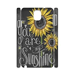 LSQDIY(R) sunflower Samsung Galaxy Note 3 N9000 DIY 3D Case, Brand New Samsung Galaxy Note 3 N9000 3D Plastic Case sunflower
