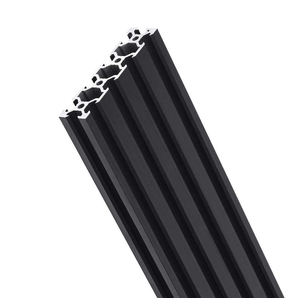 Profili in alluminio Youttoo nero 2080/V-slot estrusione cornice per profilo in alluminio CNC Tool DIY