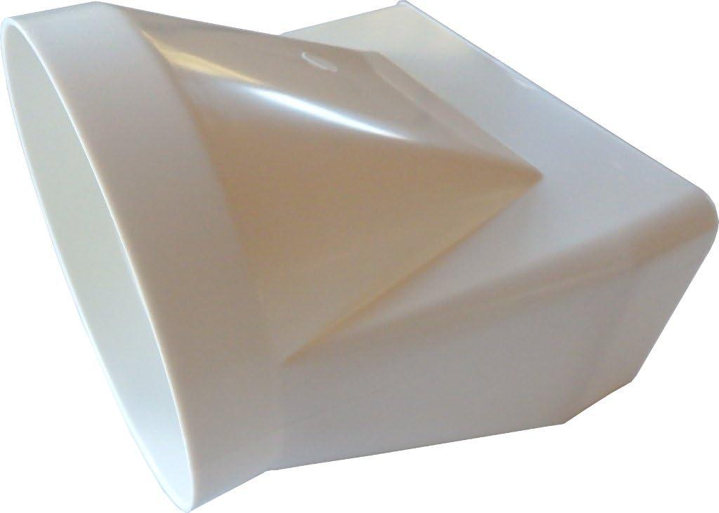 Übergangsstück Adapter rund ultraflach Abluftrohr Flachkanal Lüftungsrohr