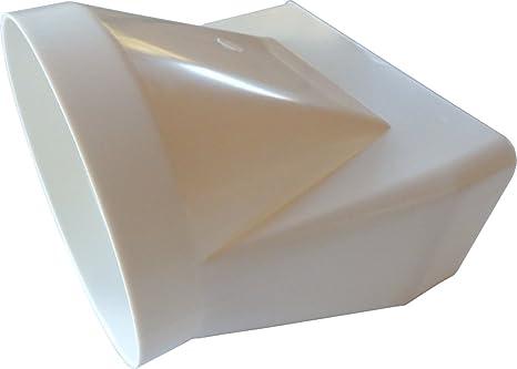 Übergangsstück von rund auf eckig in weiß er abluftsystem