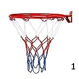 BleuMoo Wall Mounted Hanging Basketball Goal Hoop Rim Net (32cm)