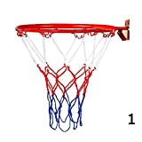 BleuMoo Wall Mounted Hanging Basketball Goal Hoop Rim Net (32cm)