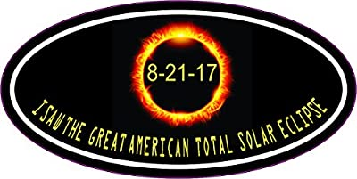 4 x 2 Oval I Saw the Great American Total Solar Eclipse Sticker Car Decal by StickerTalk