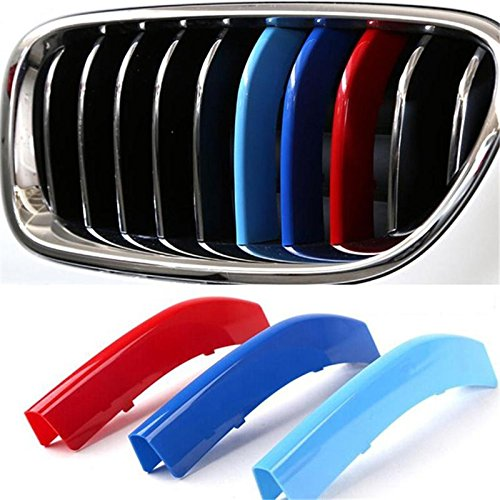 CLKjdz 3pcs Car Grill Buckle Cover Decoration Strips Sticker For BMW 3 Series (Car Grill Cover)
