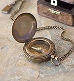 Wind & Weather Antique Brass Compass, Ghandi bb