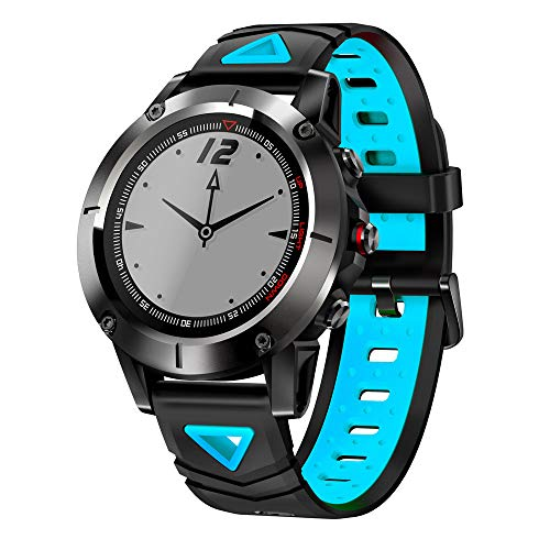 Price comparison product image Choosebuy Bluetooth Smart Watch,  Touch Screen Sports Smart Wristwatch Sleeping Fitness Heart Rate Tracker / Anti-lost Remote Camera GPS Smart Bracelet for Android for Women Men Elderly Kids (Blue)