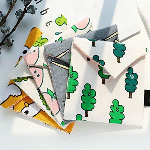 dos de en femme Sac sac Portable Tampon Manyo Mini rangement a Trousse toile Cosm FqcSc578z