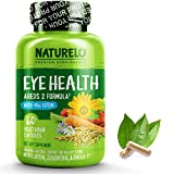 NATURELO Eye Health Vitamins - AREDS 2 Formula with Lutein, Zeaxanthin, Natural Vitamin A & Zinc - Best Supplement for Dry Eyes, Vision Preservation, Macular Degeneration Support - 60 Vegan Capsules