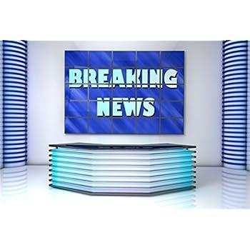 Amazoncom Aofoto 7x5ft Breaking News Tv Studio Interior