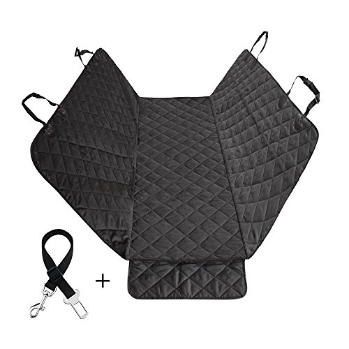 MJSTAR Pet Seat Cover Car Seat Cover for Dogs with Slide Flaps Nonslip Durble Bench Seat Cover for Cars Trucks and SUV, Waterproof TPU, Hammock Convertible??¡