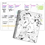 "bloom daily planners Undated Dot Journaling Calendar Planner - Essential Weekly/Monthly Grid Style Agenda Book (7"" x 9…"